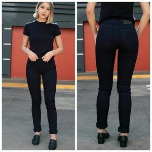 NAKED & FAMOUS Dark Blue High Rise Skinny Jeans